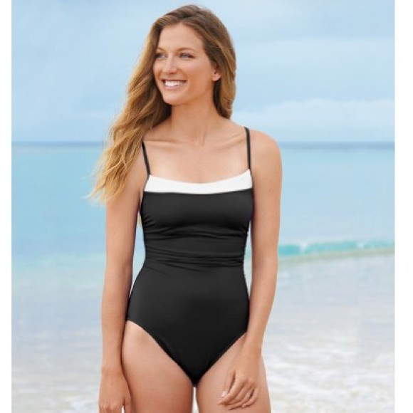c308e977f1 Miraclesuit Kara one piece Colorblock swimsuit. M_5ccb88f41153ba31a95408f2